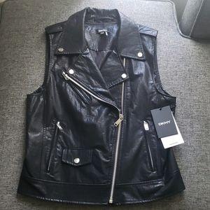Dkny faux leather vest